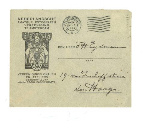 Losse brief NAFVA enveloppe 1